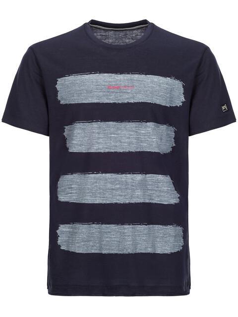 super.natural M's 140 Graphic Tee Blue Black/Stripes Print VAR1
